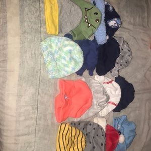 Other - 18 piece Baby hats and slippers (boy) Lot